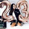 "32/40"" Giant Foil Number Rose Gold Helium Balloons Birthday Party Wedding Decor"
