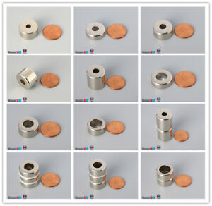 """Multiple Size 19mm 3/4""""Outer Diameter Rare Earth Neodymium Ring Magnets"""