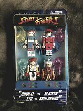 NEW MiniMates Street Fighter II 4-Pack Figure  CHUN-LI RYU M. BISON SHIN AKUMA