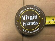 "AMERICA'S NATIONAL PARK VIRGIN ISLANDS U. S.  3 1/4"" CIRCLE STICKER"