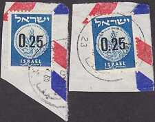 Briefmarken aus Israel mit Briefstück