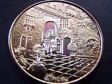 1968 WDSU-TV CHANNEL 6 20th ANNIVERSARY Gold Aluminum Mardi Gras Doubloon