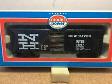 NEW HAVEN 40' box car black ho new by MODEL POWER