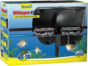 Tetra Whisper EX Silent Multi-Stage Power Filter, Easy Setup Fits 45-70 Gallon