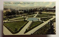 NATIONAL CASH REGISTER ENGLISH GARDENS  POSTCARD DAYTON OHIO  EARLY 1900 #1164a