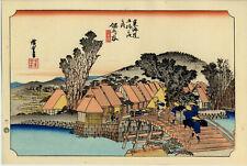UW»Estampe japonaise réédition Utagawa Hiroshige 1833 - Hodogaya - 12 B51