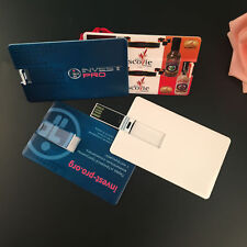 Custom postcard wedding company ads logo credit card usb 2.0 flash pen drive
