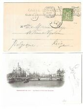 38) 1900 World Exhibition during Olympic Games card machine cancel Paris Expo
