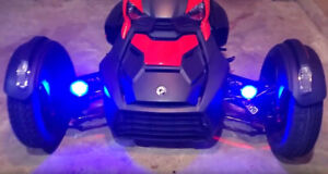 Blue LED Auxiliary Driving Fog Lights for Can-Am Ryker Spyder F3 RT RS ST F3-P