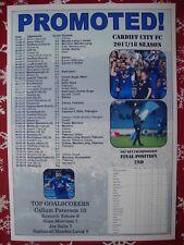 Cardiff City Championship runners-up 2018 - souvenir print