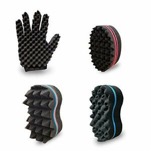 Curl Twist Sponge Glove(Right) and Big Holes Hair Brush Double Sided Sponge