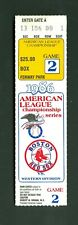 Boston Red Sox vs California Angels 1986 ALCS Game 2 Ticket Stub