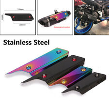 Motorcycle Exhaust Pipe Cover Protect Heat Shield Anti-scalding Stainless Steel