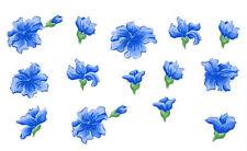 Tatouage Blue Blossoms 2-sheets Dry rub Transfer