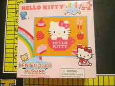 Hello Kitty 100 piece Blue Lenticular Puzzle: Hello Kitty in Teacup