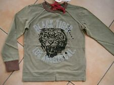 (390) RARE-The Kid Boys Shirt + Tiger Los Angeles & Logo Schriftzug Druck gr.176