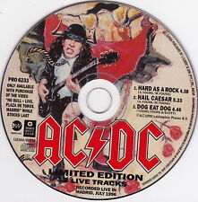 ACDC - AC/DC - Limited Edition - CD (3 x Live Tracks Promo PRO6233)