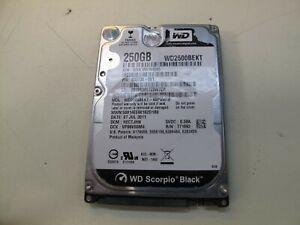 """WESTERN DIGITAL WD2500BEKT 2.5"""" 250GB SATA HDD USED"""