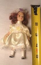 """Ceramic 5""""Miniature Doll In Great Condition. With Movable Arms, Legs And Head"""