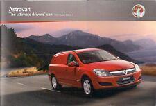 Vauxhall Astra Van 2009-10 UK Market Sales Brochure Club Sportive SE