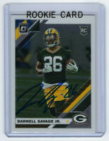 2019 PACKERS Darnell Savage signed ROOKIE card Donruss Optic #109 AUTO RC