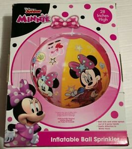 "Disney Junior Minnie Mouse 28"" Inflatable Ball Sprinkler"