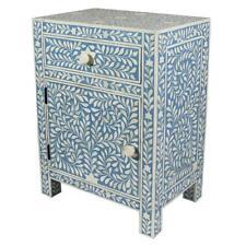 Bone Inlay Bedside Table Home Decor Purpose Attractive Design Beautifully