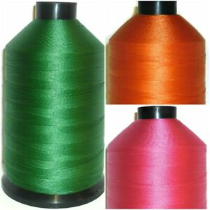1 X 3000 YARDS STRONG NYLON BONDED THREAD 40'S UPHOLSTERY, 30 COLOURS