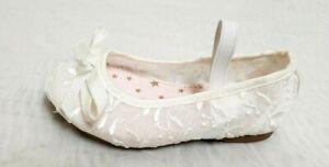 NEW! Toddler Girl's Jumping Beans-Festival Ballet Flats 213861 - White 191E tm