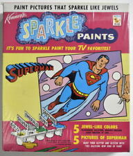 1967 SUPERMAN SPARKLE PAINTS Set Factory Sealed Kenner Rare