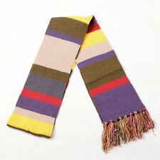 1pc Doctor Who Tassels Striped Scarf Unisex Thick Warm Knitted Couple Scarf