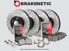 [F&R] Brakenetic Premium Drill Slot Brake Rotors+Posi Quiet Ceramic Pad Bpk95201