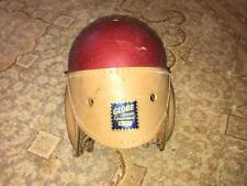 Vintage Globe Sports Equipment Leather Football Helmet Vulcanized Fibre Rare
