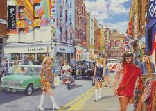 1960s Fashion Retro Vintage Clothes London Carnaby Street Birthday Card
