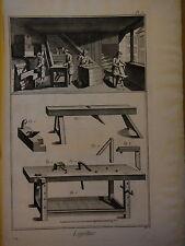 1775-DIDEROT e D'ALEMBERT-LAYETIER-FABBRICAZIONE CASSETTE IN LEGNO-2 tavole