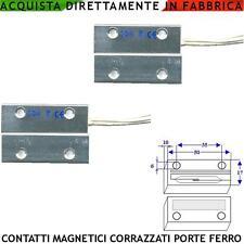 Contatti Magnetici Corazzati 2 Pz. Antifurti Porte Blindate in Materiale Ferroso