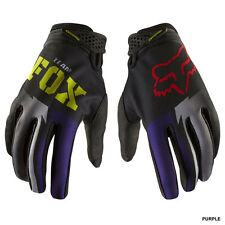 FOX womens ladies motocross ATV gloves Dirtpaw sz 9 MEDIUM pur/blk
