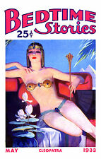 Bedtime Stories Mag cover pinup pin-up May 1933 sexy girl lingerie Cleopatra