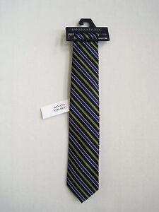 BANANA REPUBLIC Men's Purple Striped Design 100% Silk Tie One Size NWT