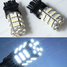 2x Backup White LED Bulbs Reverse Light 54-SMD 3156 3157