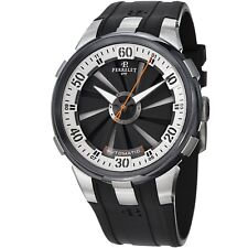 Perrelet Men's Turbine XL Black Dial Black Rubber Strap Automatic Watch A1050/4