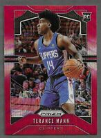 2019-20 Panini Prizm #296 Terance Mann Red Ruby Wave RC Rookie Clippers!! $$$