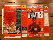 TIGER WOODS WHEATIES CEREAL BOX FACTORY FLAT UNUSED NEVER FOLDED