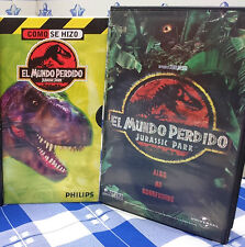 EL MUNDO PERDIDO (JURASSIC PARK 2) + COMO SE HIZO - 2 VIDEO VHS -