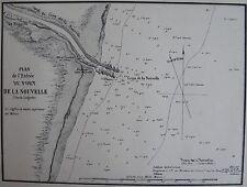 ENTREE DU PORT DE LA NOUVELLE,1862, GAUTTIER, PLANS PORTS RADES MER MEDITERRANEE