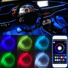 4x Car Interior Atmosphere Light 6M Neon Strips App Bluetooth Controller Rgb Led