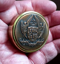 More details for masonic,vintage,solid brass paperweight the united grand lodge of england
