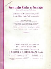 JACQUES SCHULMAN CATALOGUE 238 Coins and Medals of the Netherlands 10-13.2.1964