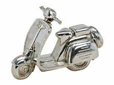 Decoración Moto Scooter,Poliacrílico Plata Brillante,22 X 9 X 15cm,de Pie Roller