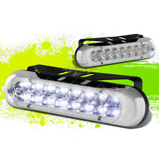 "6"" 16 BRIGHT WHITE LED DRL/DAYTIME DRIVING FRONT BUMPER FOG LIGHT BAR+BRACKET"